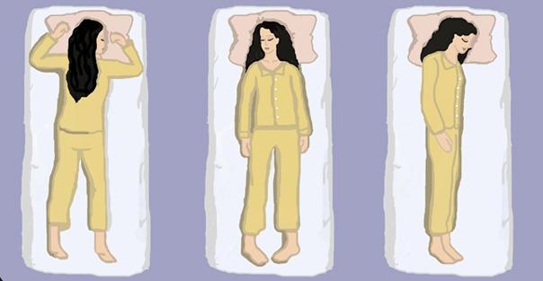 بهترین حالات خوابیدن